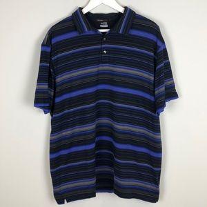 Nike Tiger Woods Dri-FIt Multi-Stripe Golf Shirt
